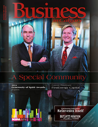 Business in Calgary magazine cover