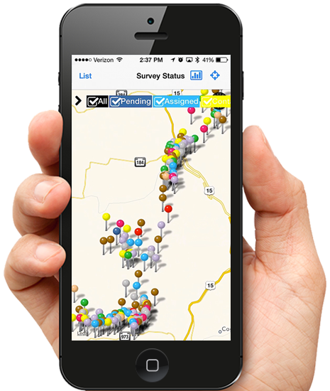 GeoAMPS Mobile GIS on iPhone